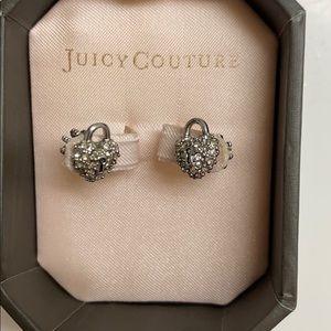 Juicy Couture Love heart lock earrings